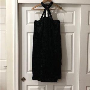 Dresses & Skirts - Black velour caged BodyCon Dress 3x